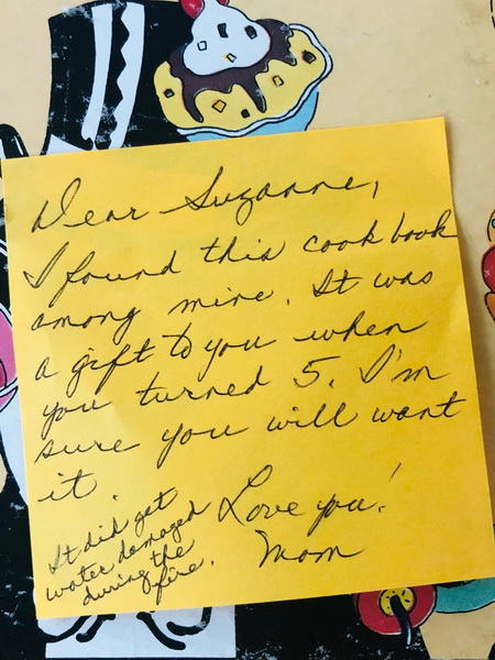 handwritten note from a mother to daughter