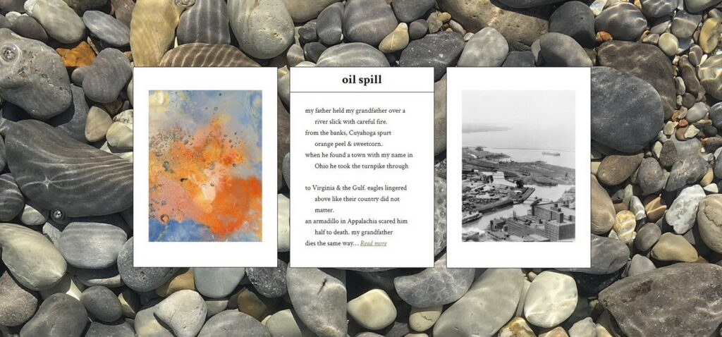 triptych for oil spill