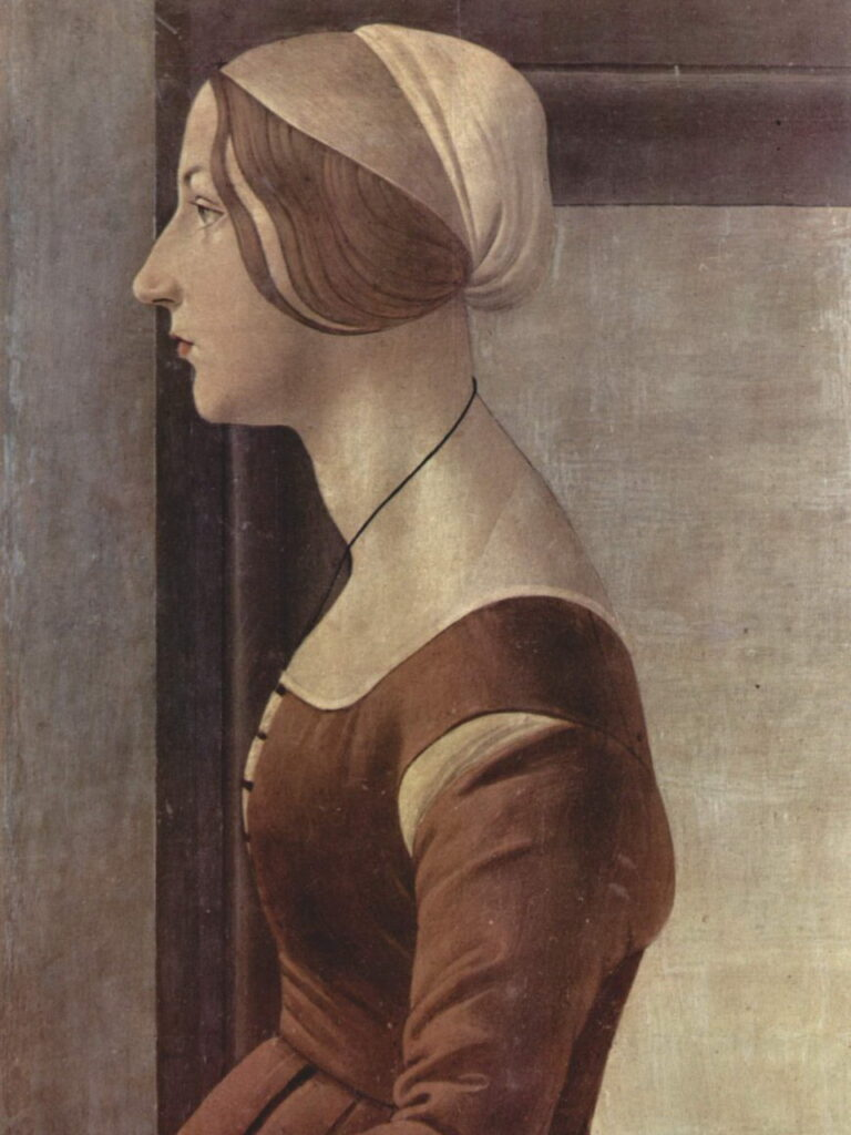 portrait of a young woman in the 15th century by Sandro Boticelli