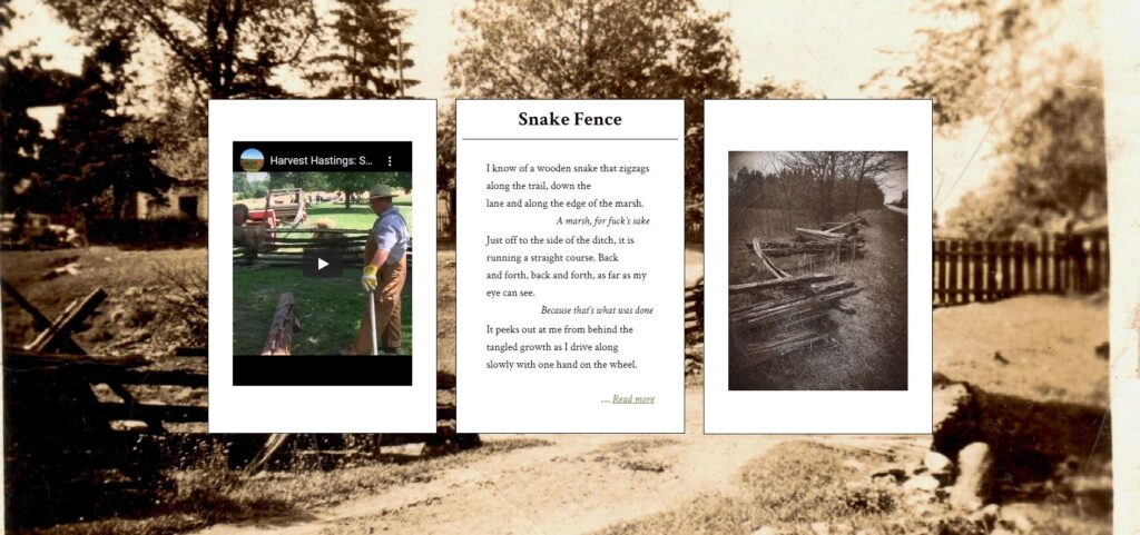 triptych for Snake Fence